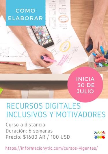 Cómo elaborar recursos digitales inclusivos y motivadores