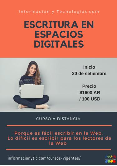 Escritura en espacios digitales