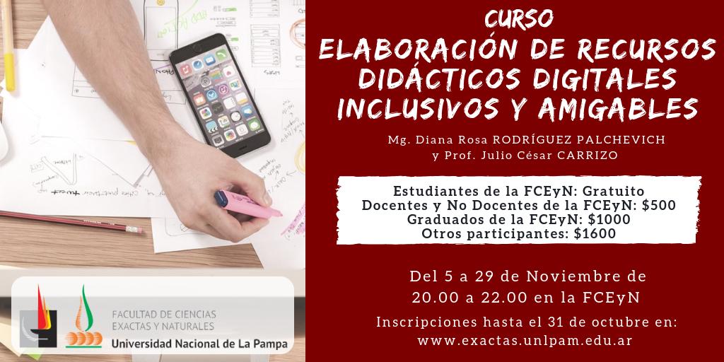 Elaboración de recursos didácticos digitales inclusivos y amigables