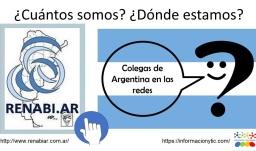 volante que muestra el logo de RENABI.AR y el logo de Información y TIC para el registro de colegas de Argentina