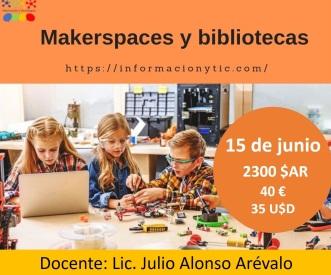 volante del curso Makerspaces y bibliotecas
