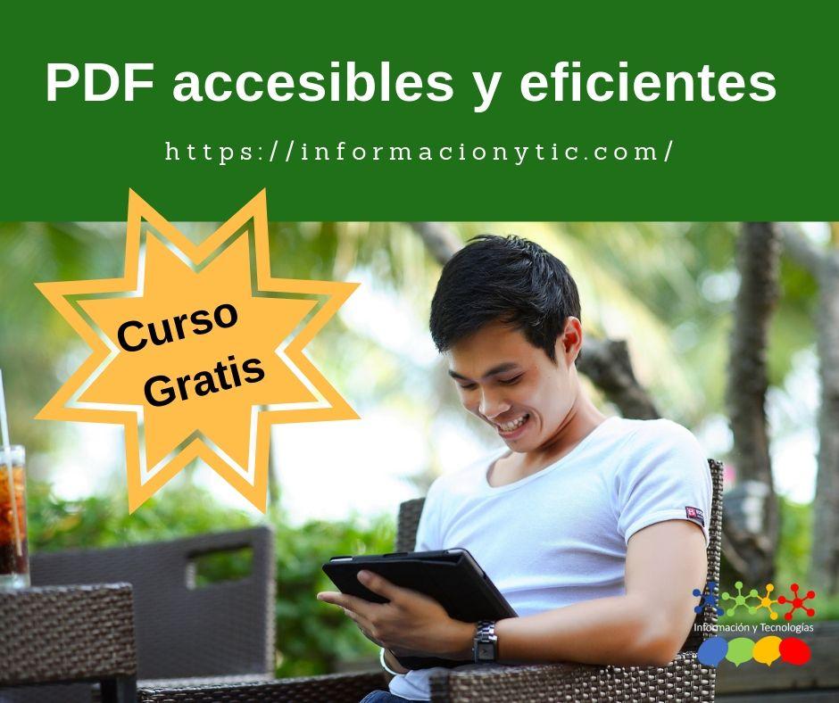 Volante del curso PDF accesibles y eficientes.