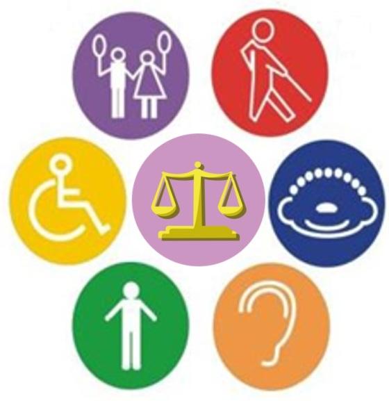 logo de balanza legal y de discapacidad