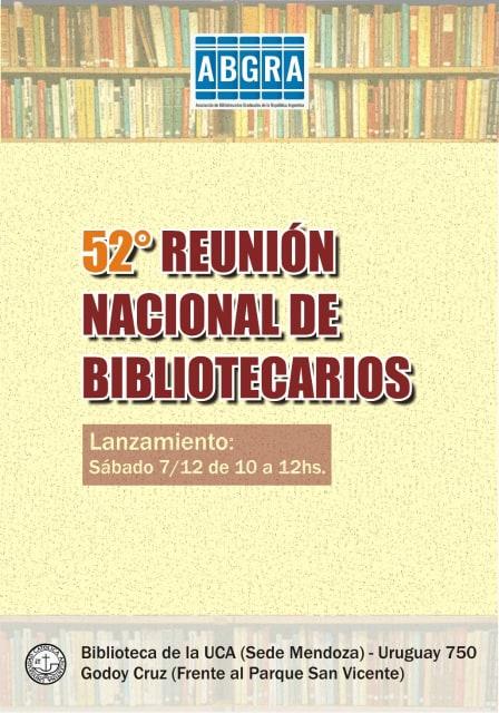 volante para el encuentro del día 7 de diciembre en la ciudad de Mendoza